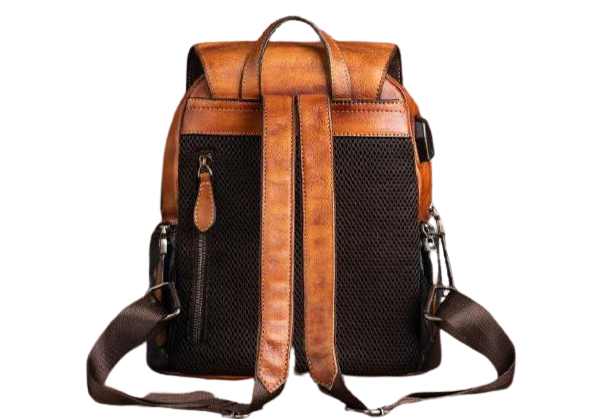 SIDES-Genuine-Leather-Backpack-Back-View