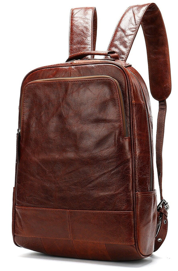 THIEBE Genuine Leather Backpack Red