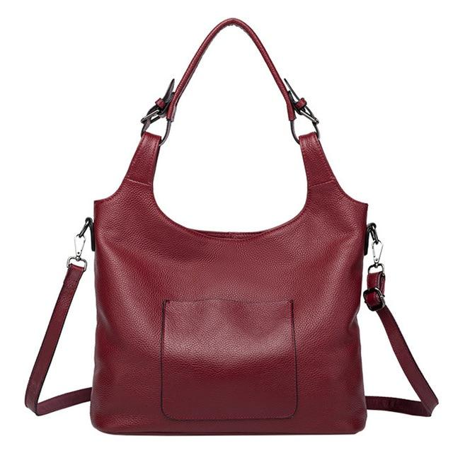 TILLIA Genuine Leather Tote Handbag