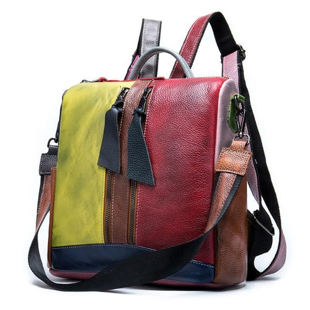 TONKA Genuine Leather Convertible Backpack