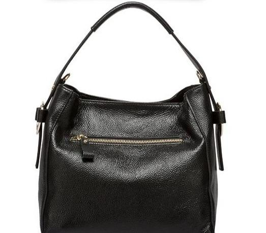 TELLA Genuine Leather Tote Handbag - back view