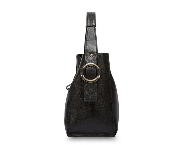 TELLA Genuine Leather Tote Handbag - side view