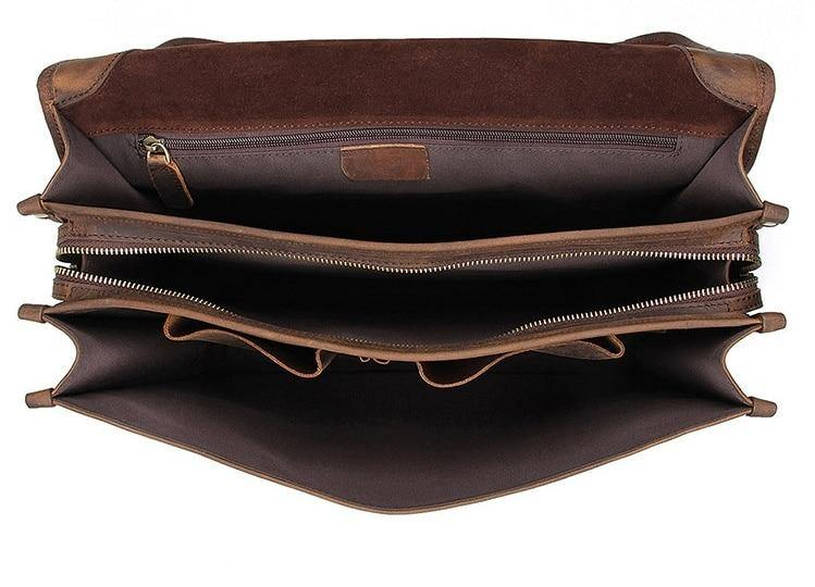 RELLAN Genuine Leather Briefcase - VINNALEA