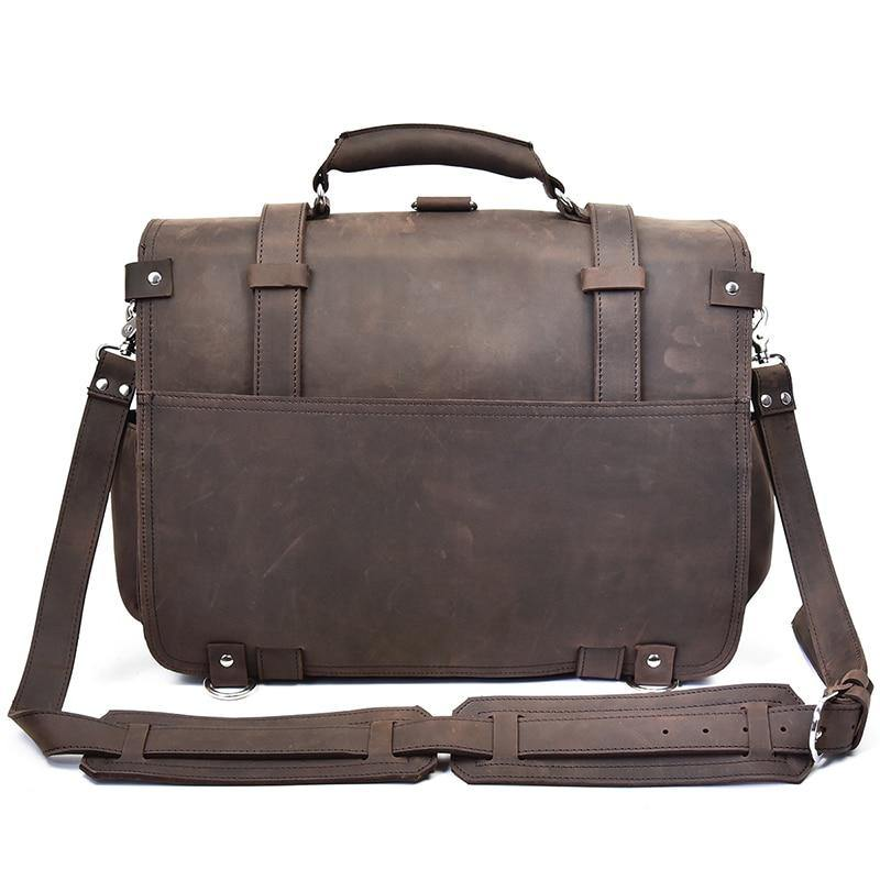 BRAREN Genuine Leather Briefcase - VINNALEA