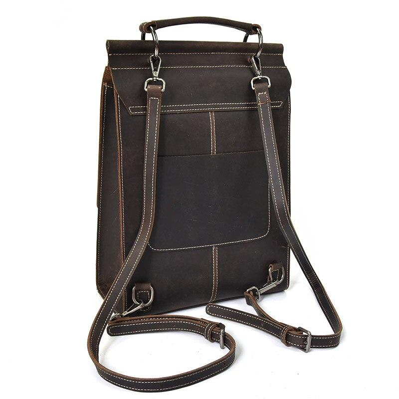 YADONE Genuine Leather Backpack