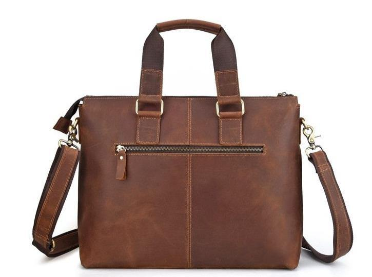 LOVEN Genuine Leather Briefcase - VINNALEA