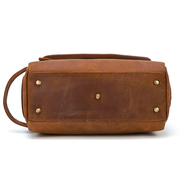ZALIE Genuine Leather Toiletry Bag