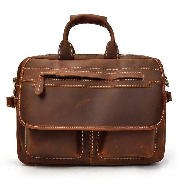 LAVEN Genuine Leather Briefcase