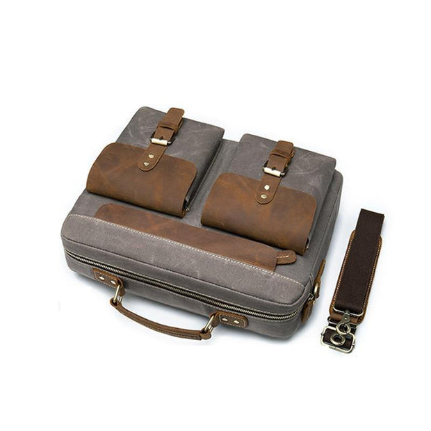 BRADMOR Genuine Leather Briefcase - VINNALEA