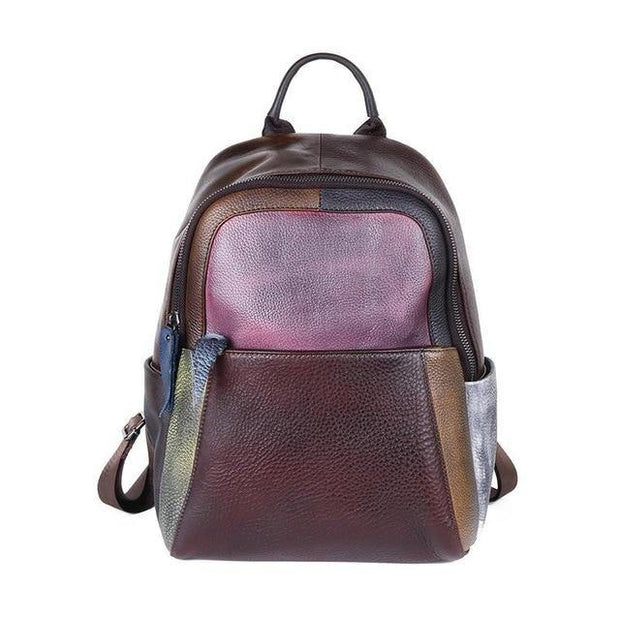 BIANCHA Genuine Leather Small Backpack - patchwork 3