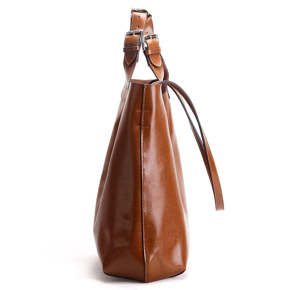 BODIA Genuine Leather Tote Handbag - VINNALEA