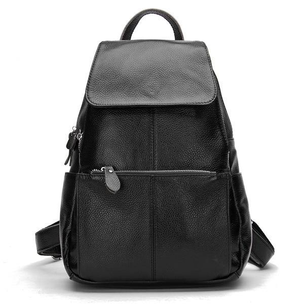 EREA Genuine Leather Backpack - black