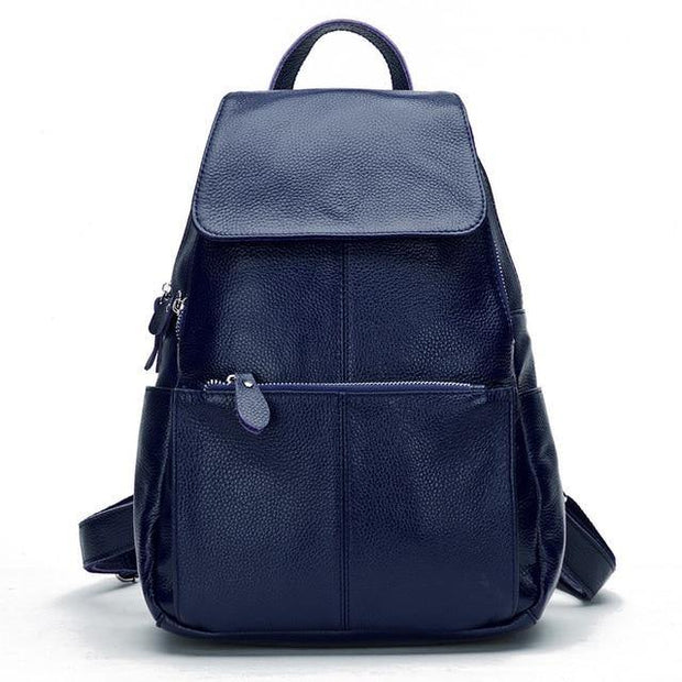 EREA Genuine Leather Backpack - blue