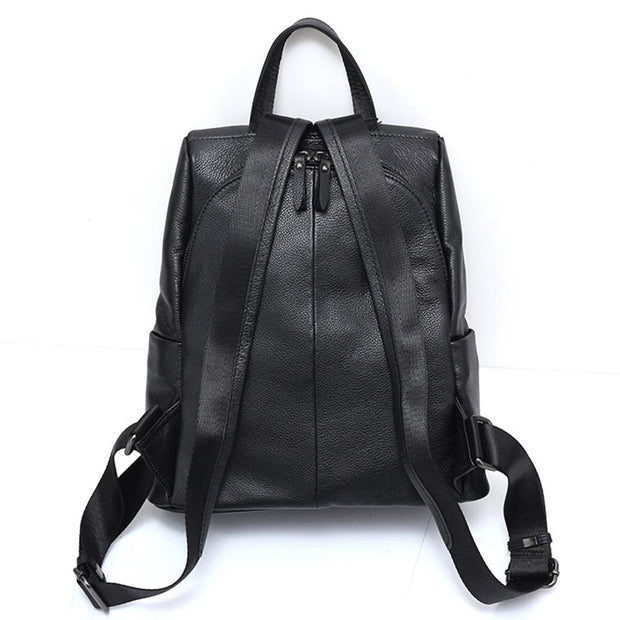 RINIA Genuine Leather Anti Theft Backpack - Back Pocket