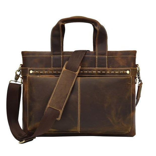ASAN Genuine Leather Laptop Briefcase