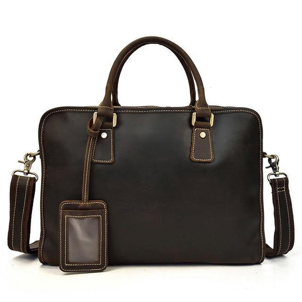 ELLAN Genuine Leather Briefcase - VINNALEA