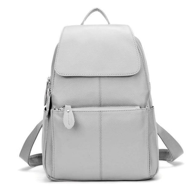 EREA Genuine Leather Backpack - grey