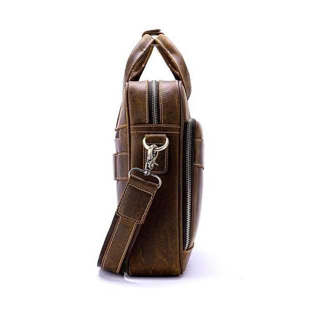 AUWEN Genuine Leather Shoulder Bag - VINNALEA