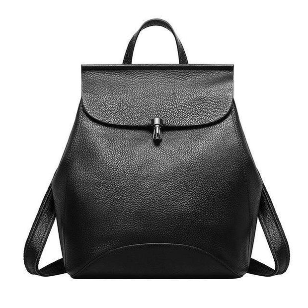 GUIERA Genuine Leather Backpack - black