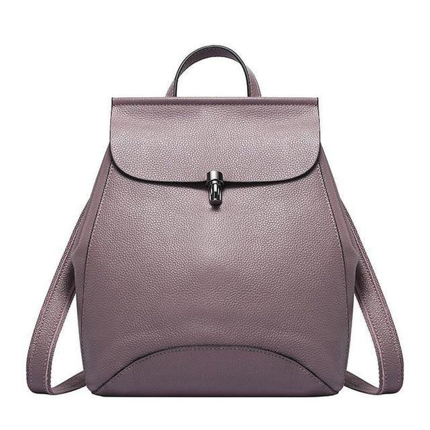GUIERA Genuine Leather Backpack - VINNALEA