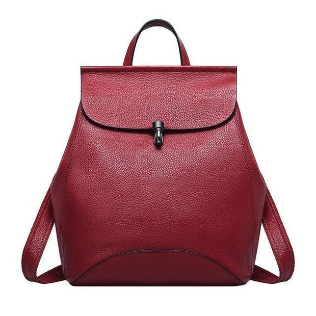 GUIERA Genuine Leather Backpack - red