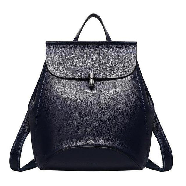 GUIERA Genuine Leather Backpack - blue