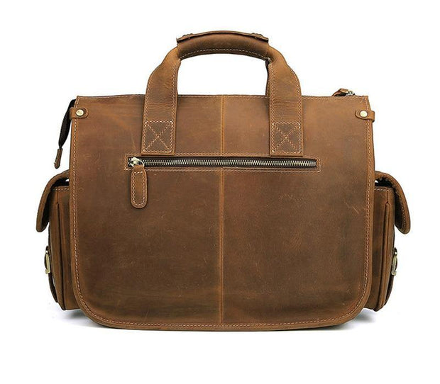 CHAGAN Genuine Leather Briefcase - VINNALEA