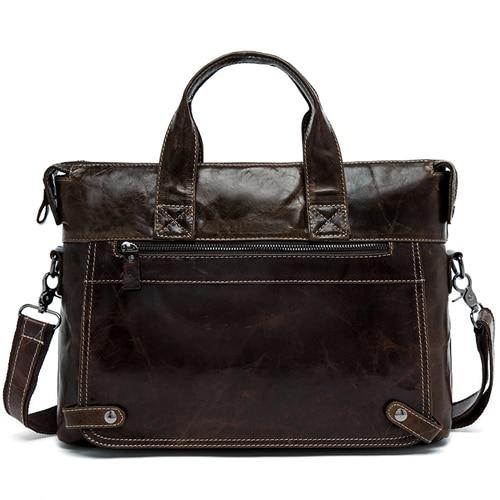 WALIAN Genuine Leather Shoulder Bag - coffee
