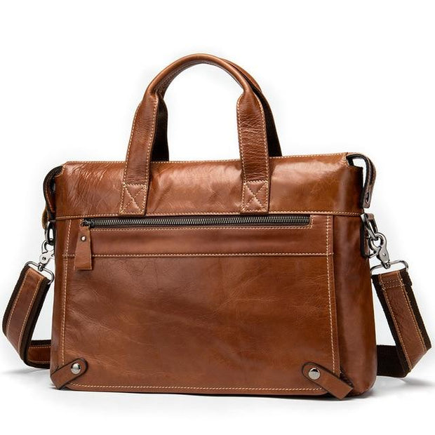 WALIAN Genuine Leather Shoulder handBag - brown