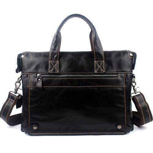 WALIAN Genuine Leather Shoulder Bag - black