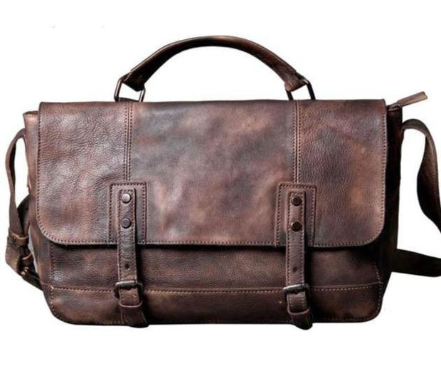 MAREN Genuine Leather Laptop Briefcase