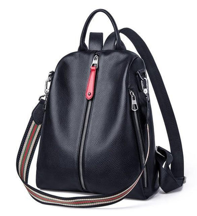 RAIDA Genuine Leather Backpack - black