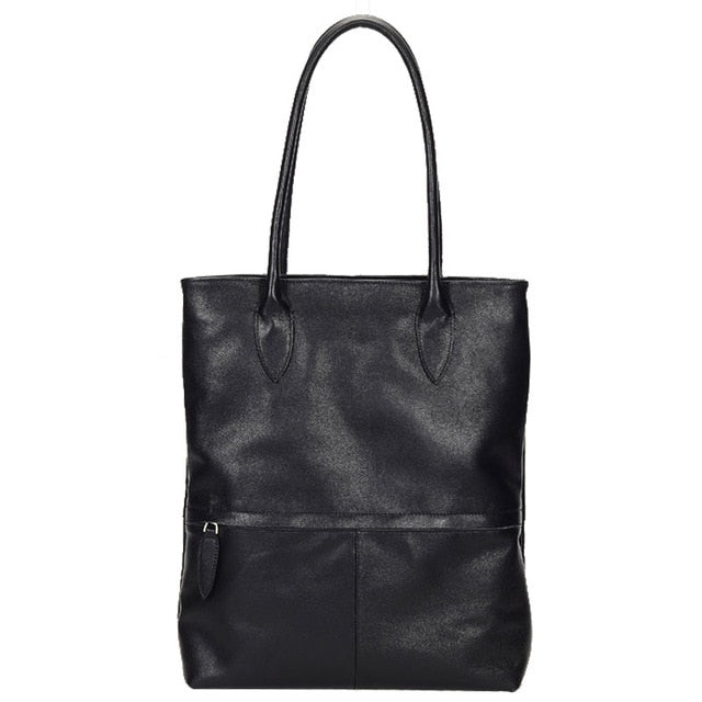 TELIA Genuine Leather Tote Handbag