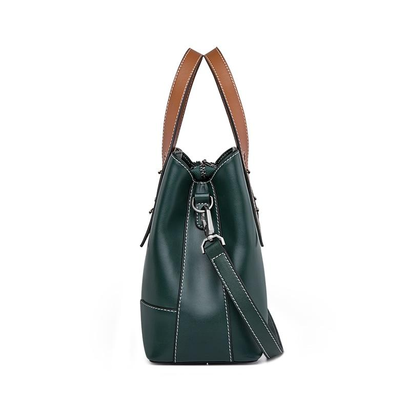 RAERKA Genuine Leather Handbag - side view
