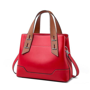Open image in slideshow, RAERKA Genuine Leather Handbag - red