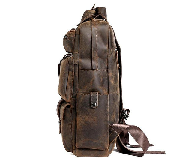 DOCLYA Genuine Leather Backpack - VINNALEA