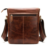 ROXWIE Genuine Leather Shoulder Bag - back view