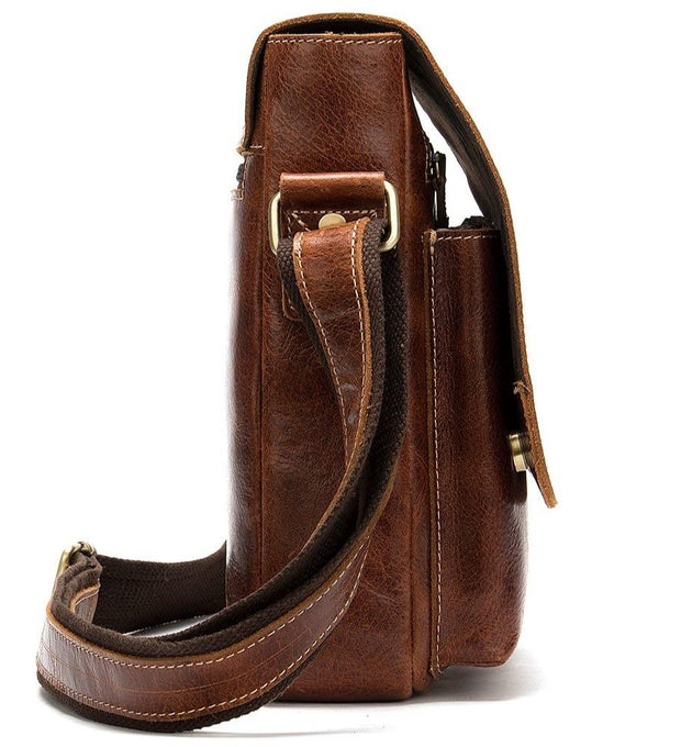ROXWIE Genuine Leather Shoulder Bag - side view