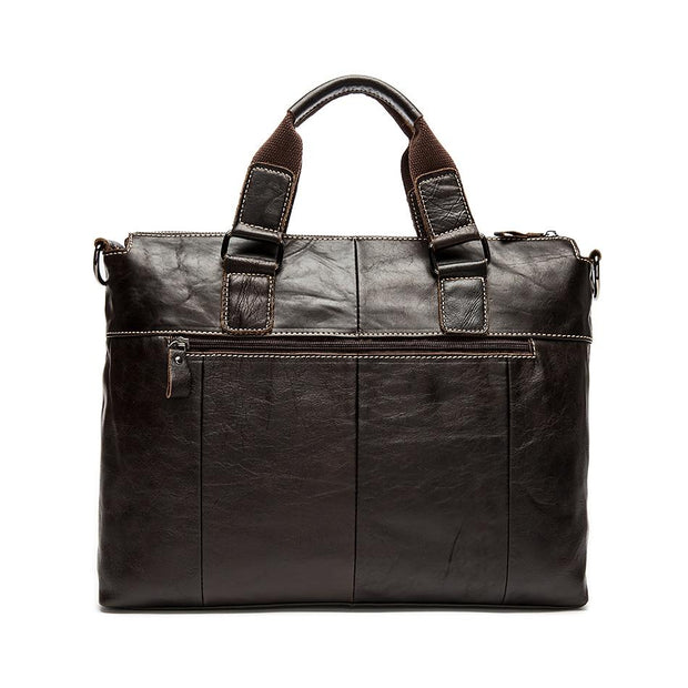 WOALAN Men's Genuine Leather Shoulder Bag