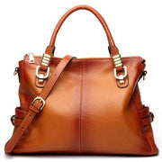 LITHA Tan Genuine Leather Tote