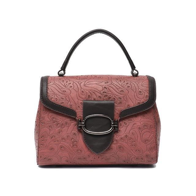 KASANA Genuine Leather Handbag - blush