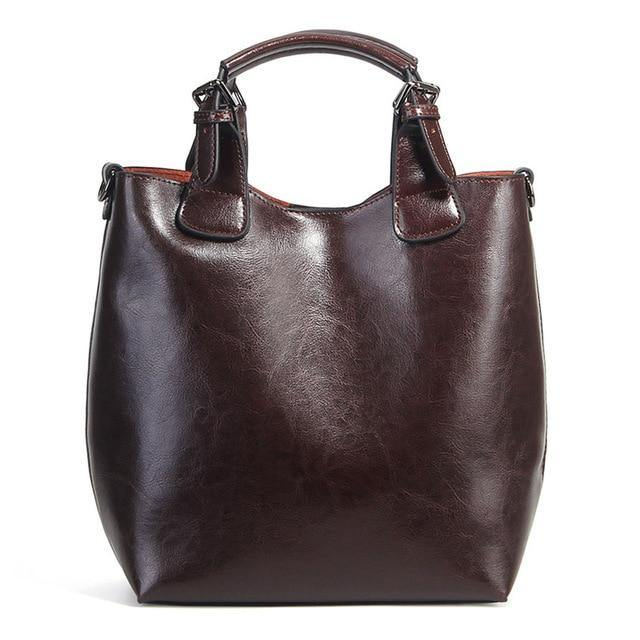MELA Genuine Leather Tote Handbag