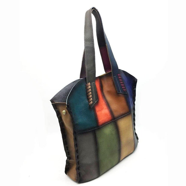 GORIA Genuine Leather Tote Handbag - VINNALEA
