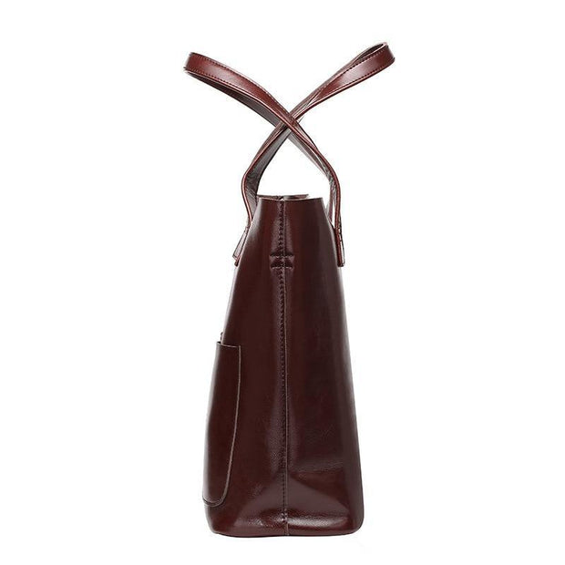CARITA Genuine Leather Handbag - VINNALEA