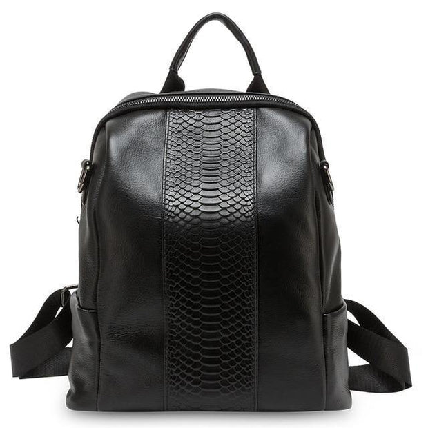 DIRA Genuine Leather Anti Theft Backpack