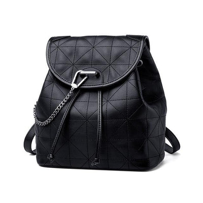 RIELA Genuine Leather Black Backpack