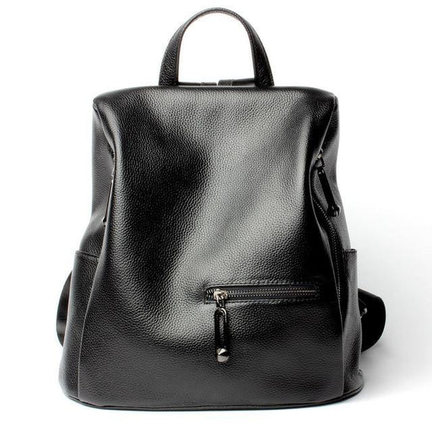 FIOLLA Genuine Leather Anti Theft Backpack