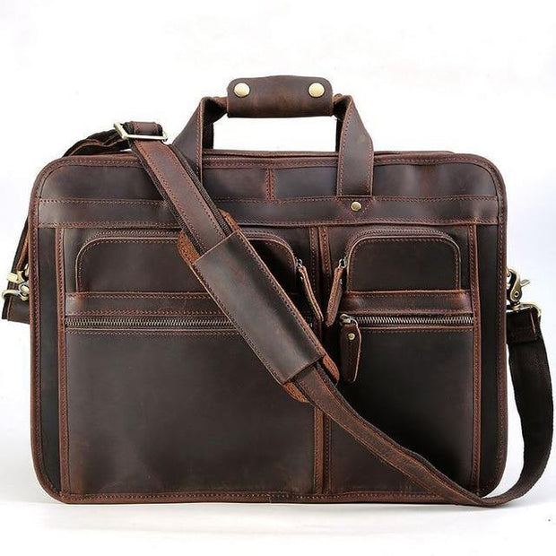 ELHOME Genuine Leather Shoulder Bag - darb brown