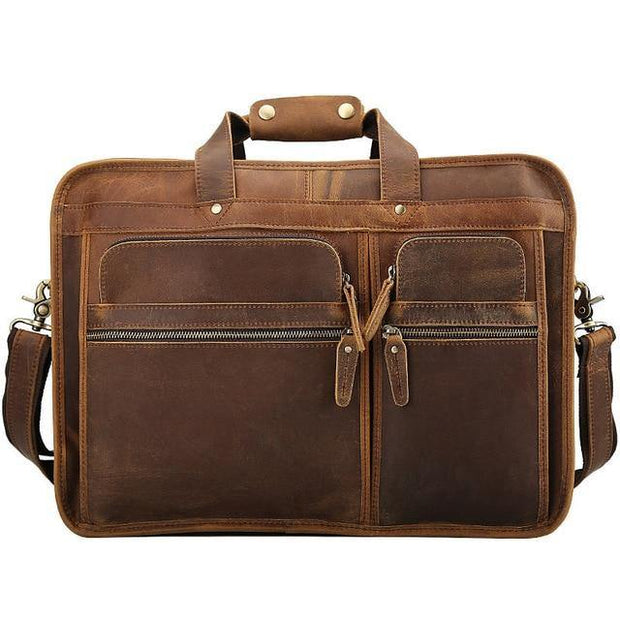 ELHOME Genuine Leather Shoulder Bag - light brown