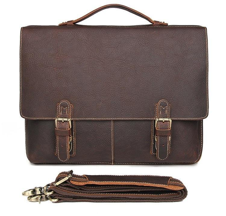UMER Genuine Leather Briefcase
